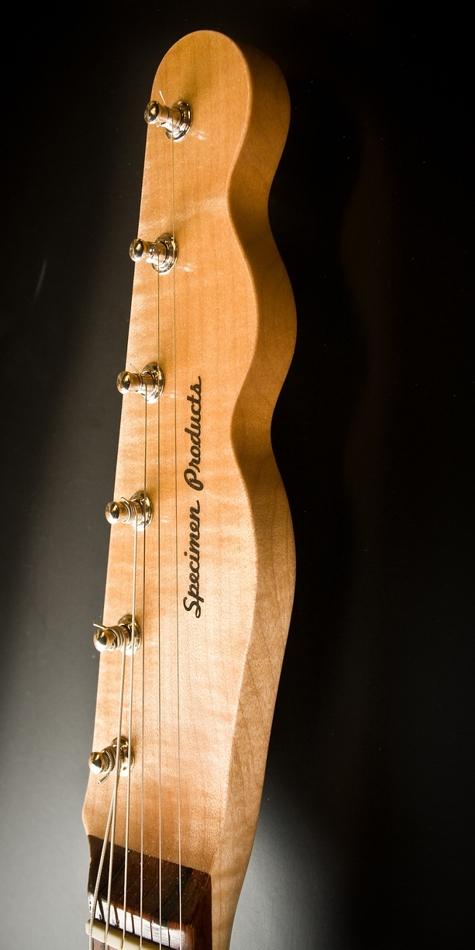 Specimen Custom Aluminum Tele Deluxe Guitar Headstock