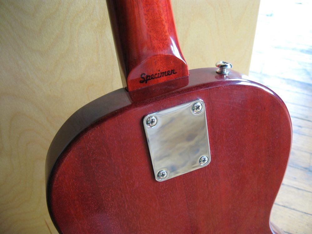 Specimen Luddite Guitar Neck Plate and Serial Number