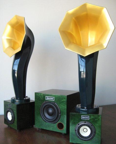 Enjoy the Music reviews Specimen's Little Horn Speakers and Satellite Subwoofer