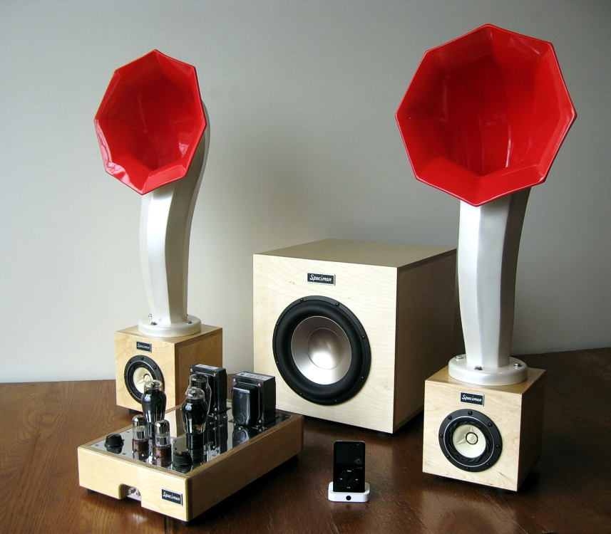 Little Horn Speakers on custom speaker system