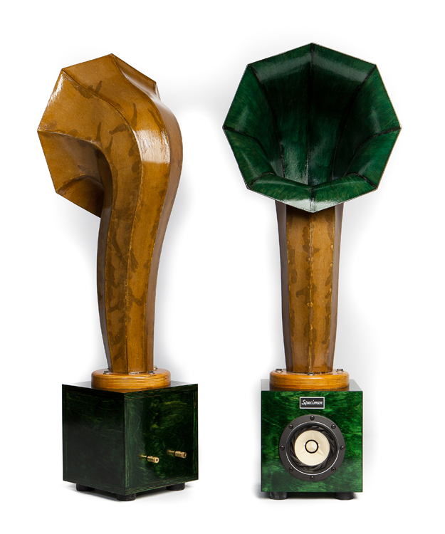 Little Horn Audio Speakers in Dark Green
