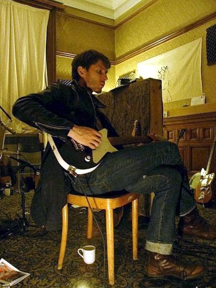 Alex Kapranos of Franz Ferdinand and his Specimen Custom Maxwell Guitar
