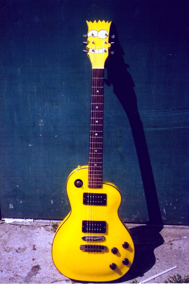 Specimen Custom Bart Simpson Guitar