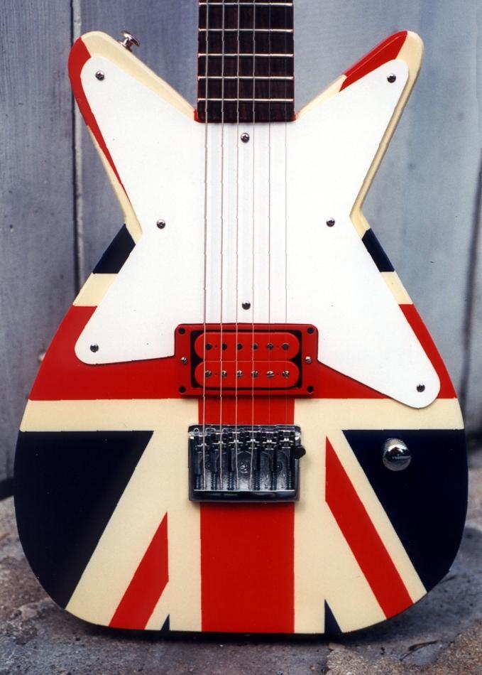 Specimen Union Jack Maxwell Custom Guitar