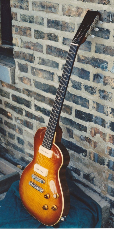 Specimen Custom Flame-top Pippin Guitar