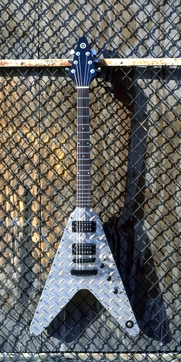 Specimen Custom Aluminum Flying A Guitar