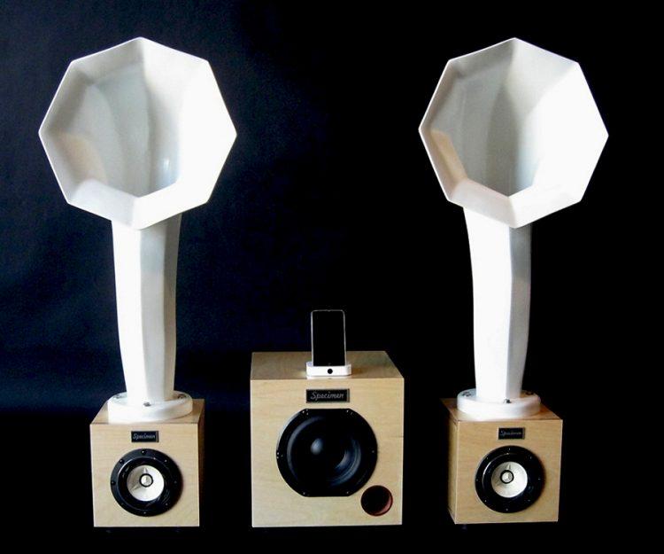 Specimen Horn Speakers with Satellite Subwoofer