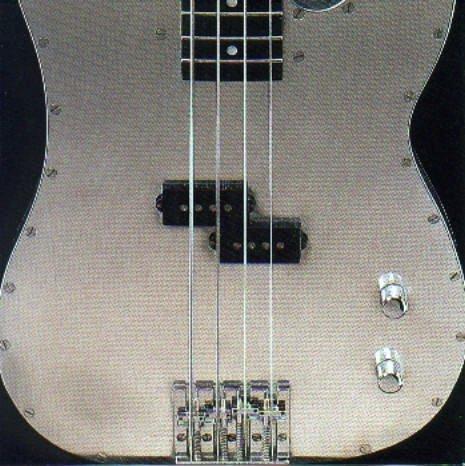 Tar Clincher Album cover featuring Specimen Aluminum Bass Guitar