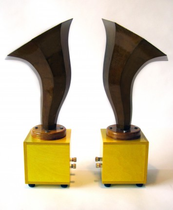 Specimen Hornlet Audio Speakers in Yellow