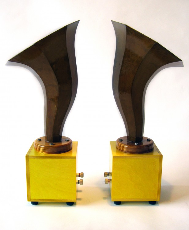 Specimen Hornlet Audio Speakers in Yellow