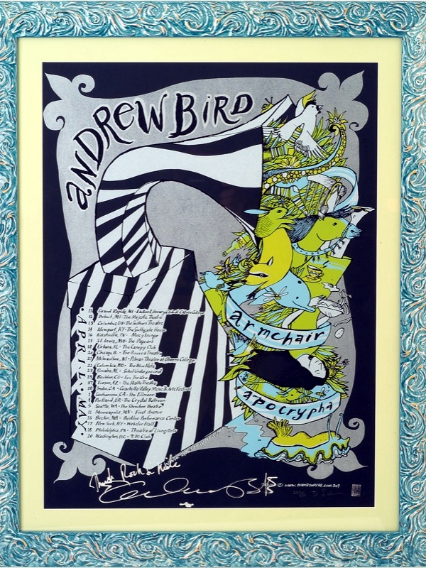 Andrew Bird Show Poster featuring Specimen Single Horn Speaker