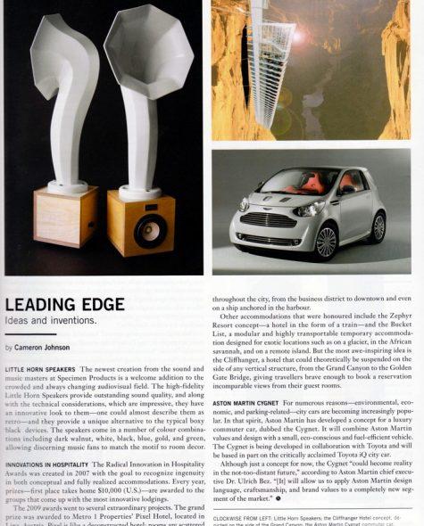NUVO Magazine features Specimen Little Horn Speakers