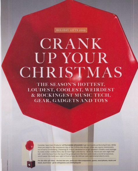 Rolling Stone Magazine features Specimen Little Horn Speakers