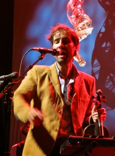 Andrew Bird with Specimen spinning Aerosel Horns at Martyr's Chicago March 20, 2012
