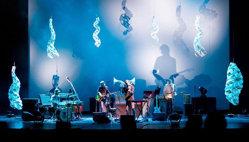 Specimen Aerosel horns on tour with Andrew Bird at Chicago's Auditorium Theater