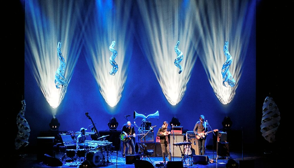 Specimen Aerosel Horns on stage with Andrew Bird at the Chicago Auditorium Theater