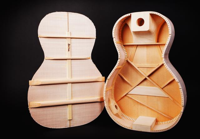 Inside of Specimen's Amontialldo Luddite - Acoustic Electric Custom Guitar