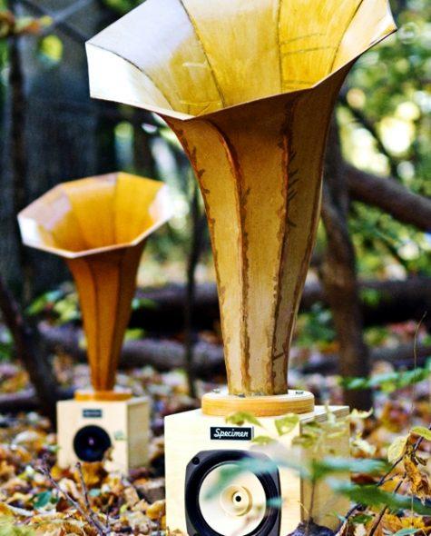 Specimen Custom Horn Speakers featured on inhabitat.com