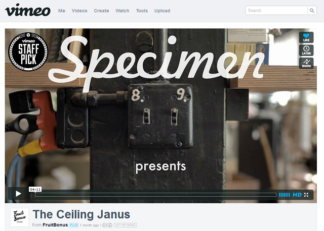 Ceiling Janus video on Vimeo