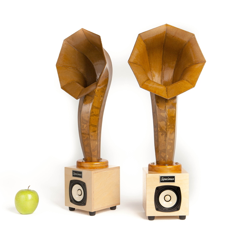 Little Horn Mini Hi Fi Audio Speakers Natural