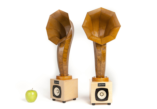 Specimen Little Horn Mini Audio Horn Speakers - Natural
