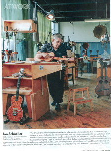 Ian Schneller in his workshop.