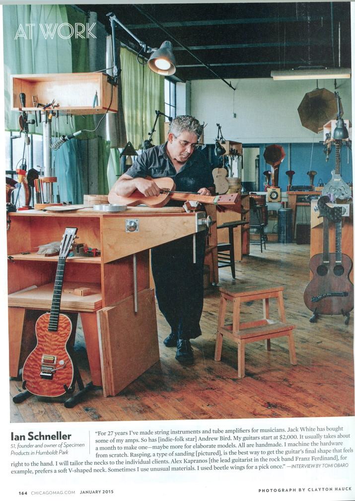 Ian Schneller in his workshop