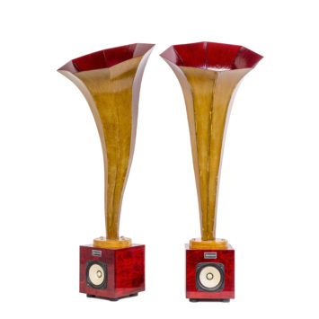 Specimen Red Calla Horn Speakers